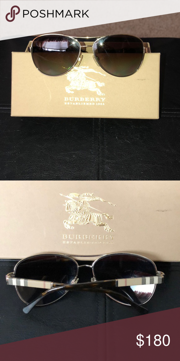36a58ac0f661b Authentic Burberry aviators Gold and tortoise Burberry sunglasses. Gently  worn Perfect condition Burberry Accessories Sunglasses