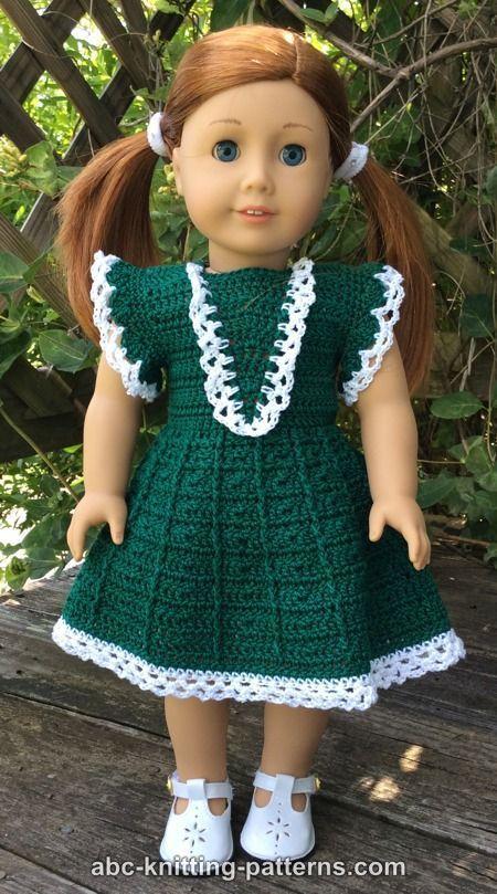 Free Doll Dress Crochet Pattern | american doll | Pinterest ...