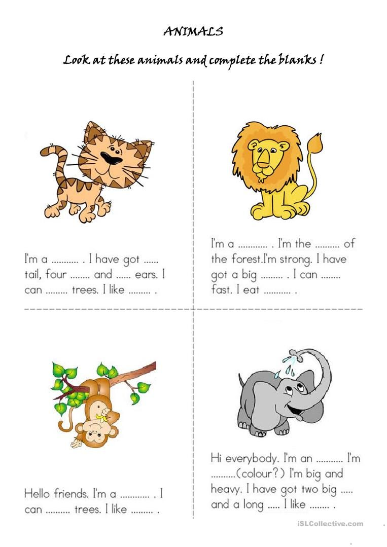 Animals Worksheet Free Esl Printable Worksheets Made By Teachers English Lessons For Kids Learning English For Kids Education English [ 1079 x 763 Pixel ]