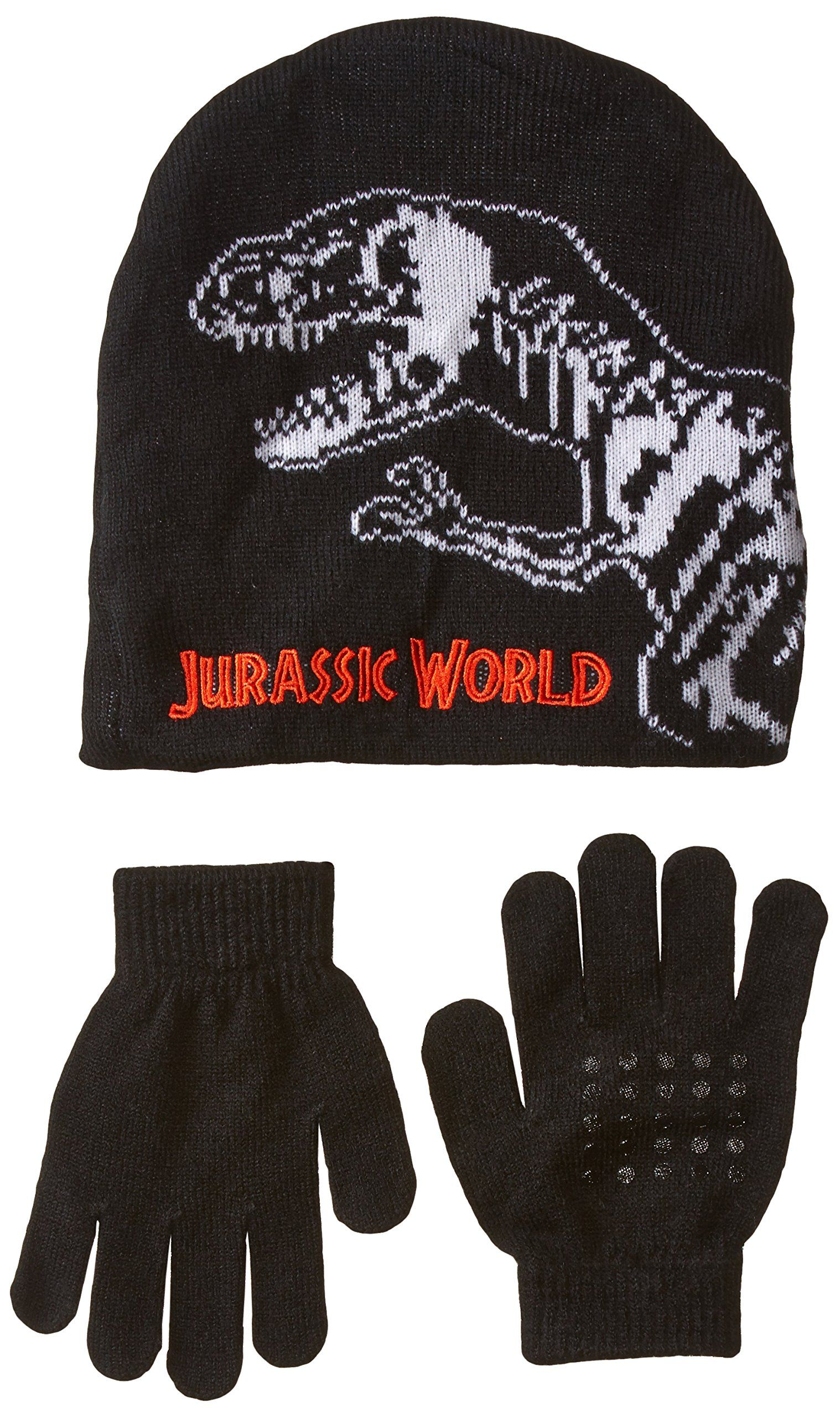 1f2faa2ca65478 Accessory Innovations Little Boys' Jurassic Park Sharp Tooth Beanie and  Glove, Multi, One