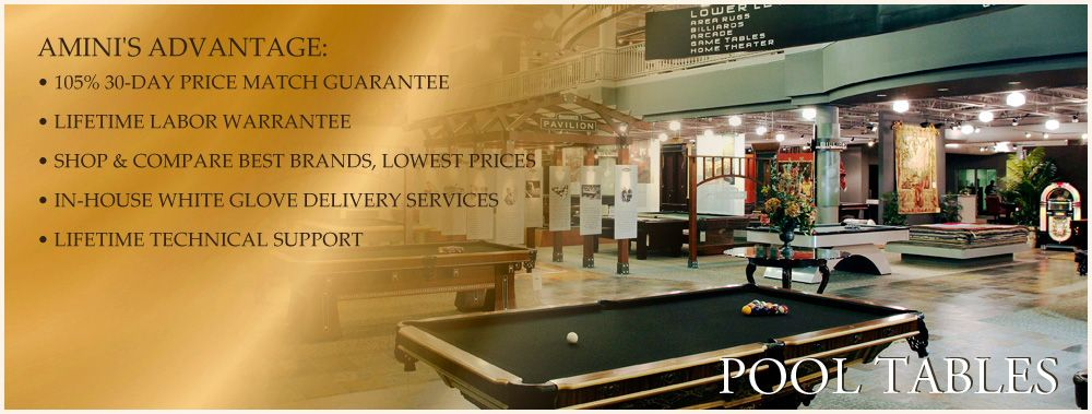 Amini S Galleria Has The Finest Gaming Tables American Made Pool