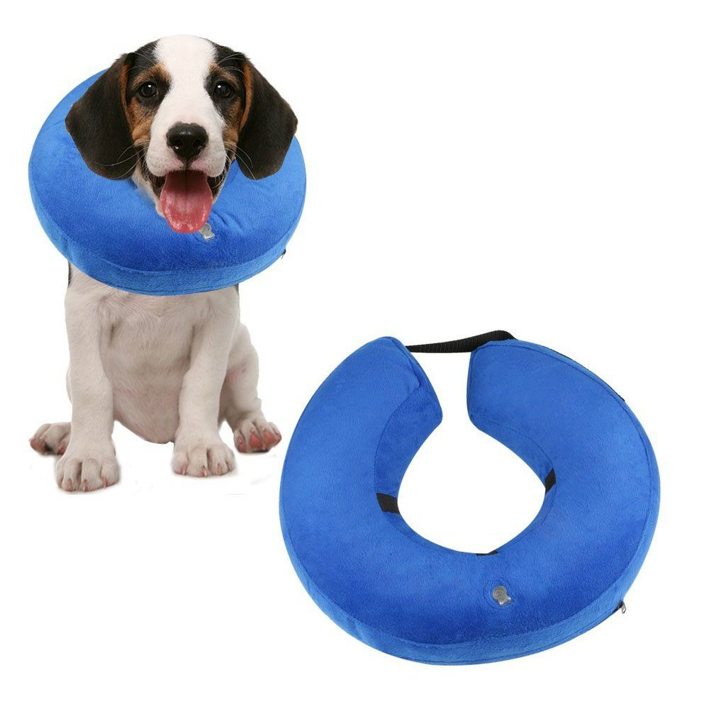 Dosel Protective Inflatable Dogs Collar Soft Pet Recovery Ecollar For Dogs And Cats Prevent Pets From Touching Stitch In 2020 Inflatable Dog Collar Cat Collars Dog Cat