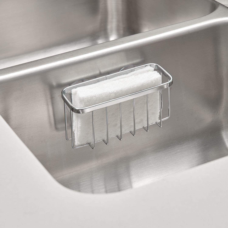 idesign gia kitchen sink suction holder for sponges in 2020 stainless steel kitchen sink kitchen sink sink pinterest
