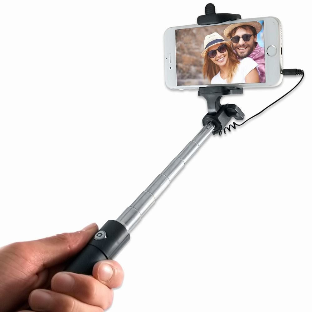 24cb4519d3ff83 Find More Holders & Stands Information about Extendable Handheld Wired  Selfie Stick Monopod Mini Stand