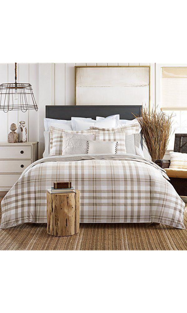 Best Tommy Hilfiger 034491Th006 Range Plaid Comforter Set Taupe 400 x 300