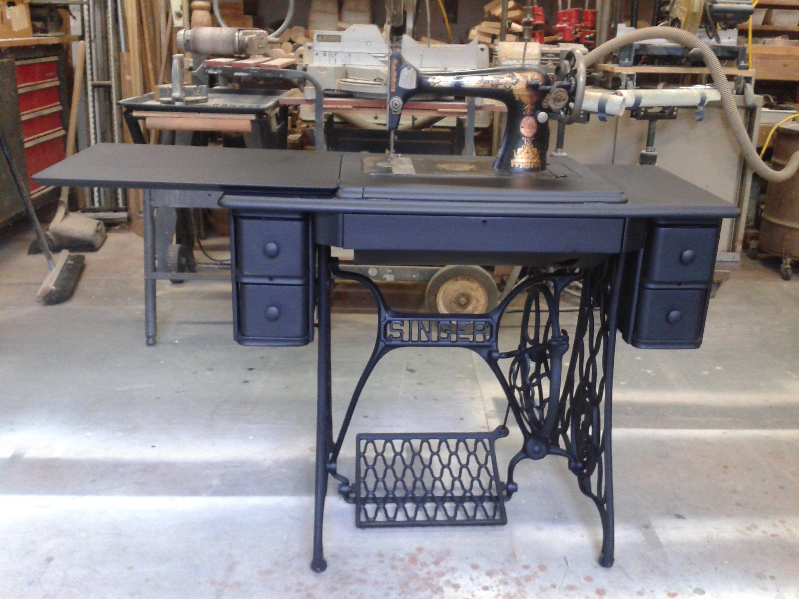 Refinished Old Singer Sewing Machine Re Propose Old Into