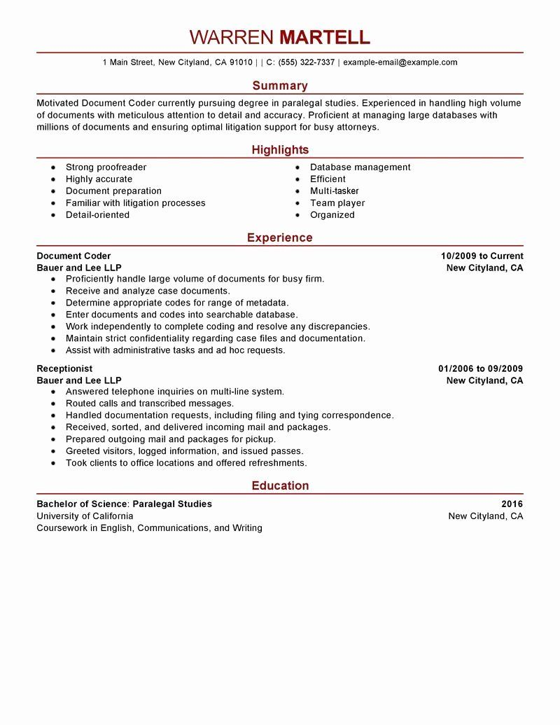 Billing And Coding Resume Fresh Sample Resumes For Medical Billing And Coding Specialist Medical Coder Resume Medical Coding Medical Coder