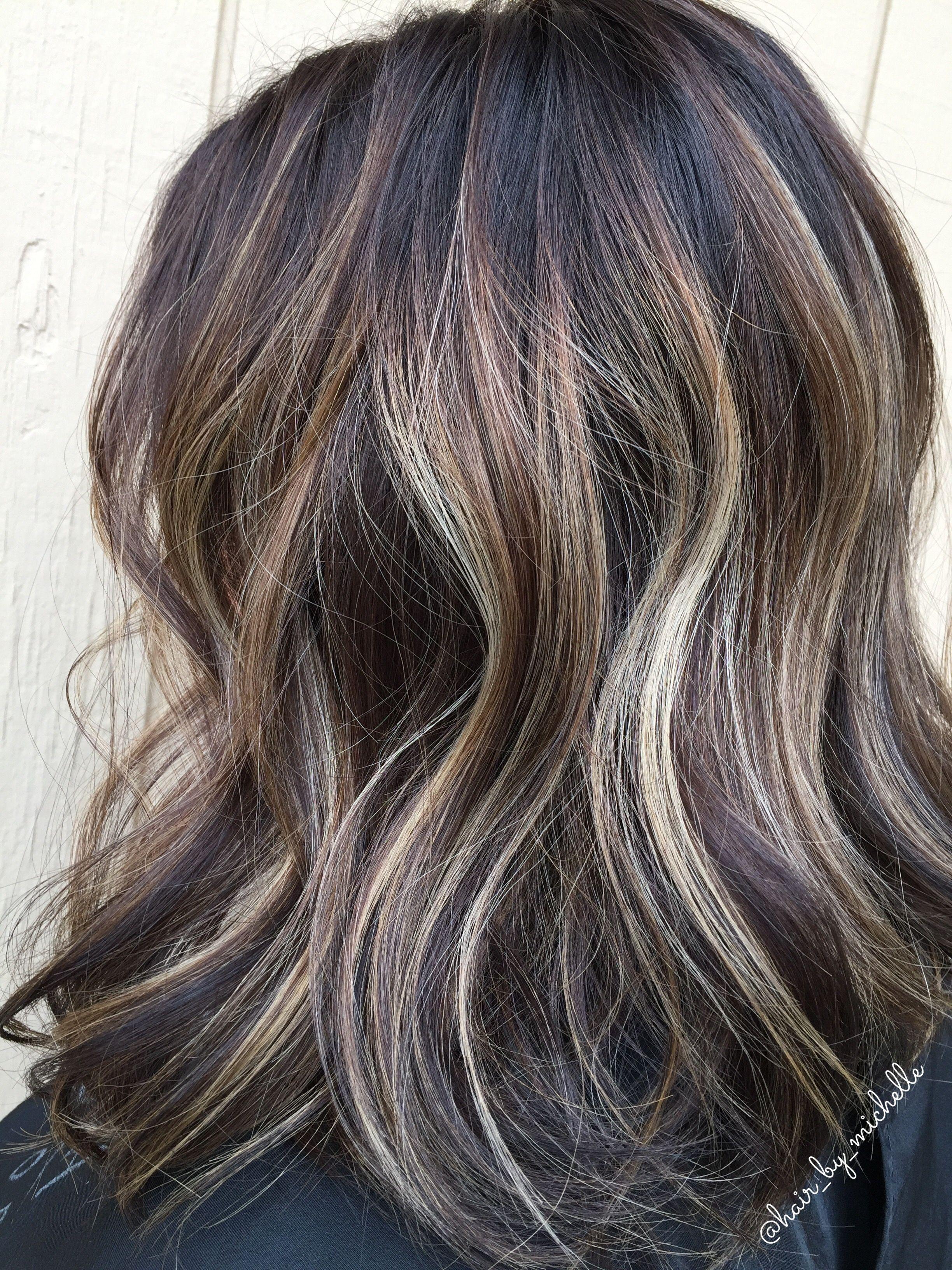 Dark Hair Balayage Brunette Highlights On Dark Hair Dark