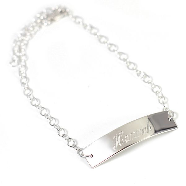 Sterling Rectangle Monogram Bracelet [MB90] - $40.00 : HandPicked | Jewelry, Monogram, Gifts | FREE Shipping on orders $100 or more