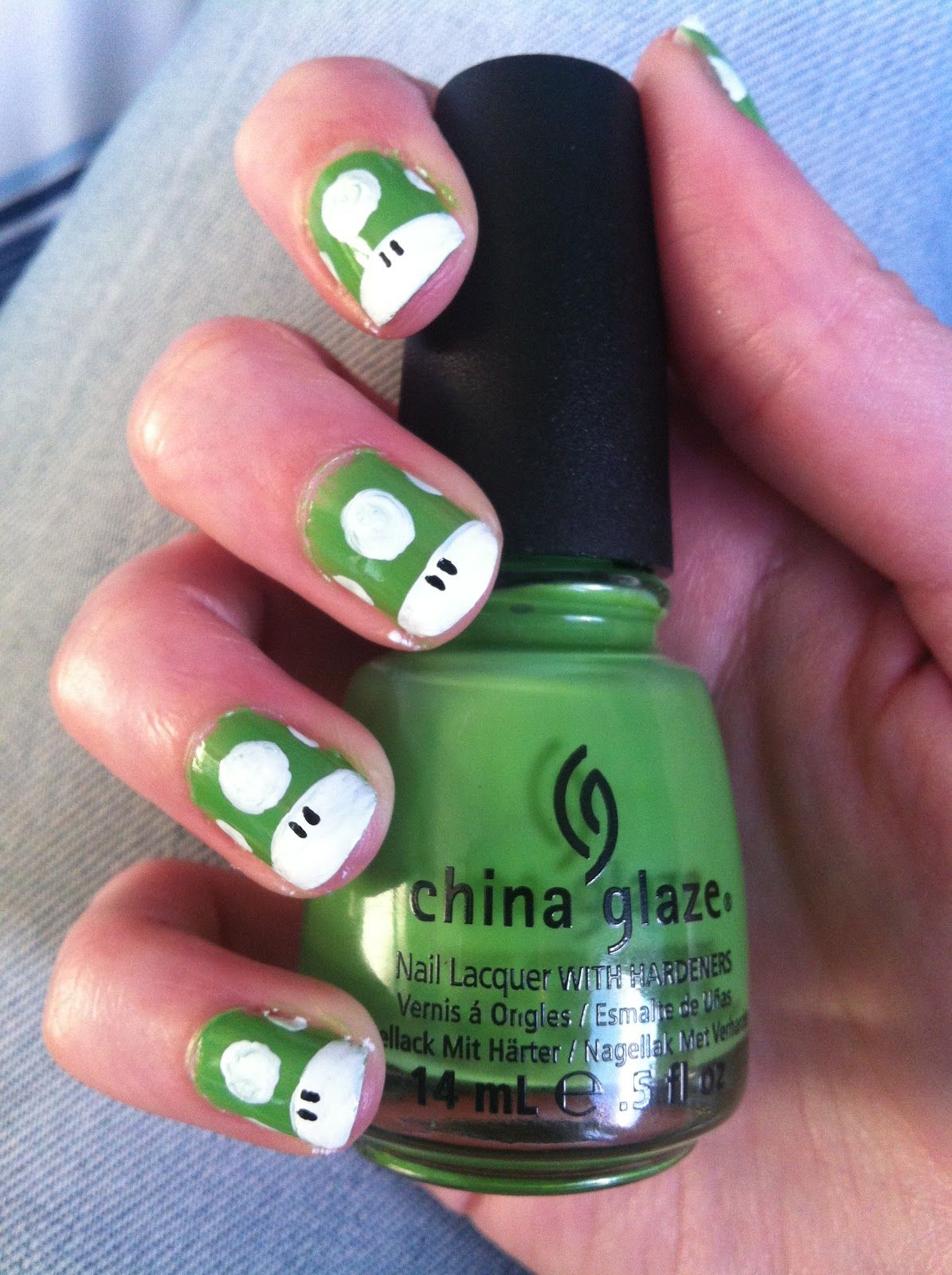 Green+1up+mario+nail+art.JPG (1195×1600) | Nail art | Pinterest ...