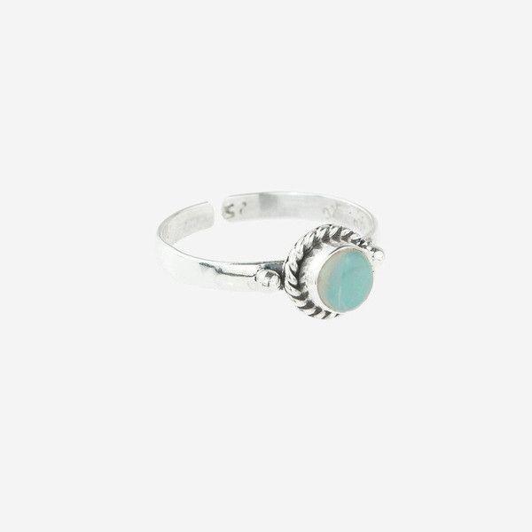 Rock N Rose Ina Opal October Birthstone Midi Ring (£26) ❤ liked on Polyvore featuring jewelry, rings, band rings, pinky ring, band jewelry, midi rings jewelry and midi rings