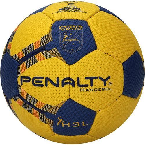 6e06461b15 Bola de Handebol H3L com Costura Amarela e Azul - Penalty Handebol