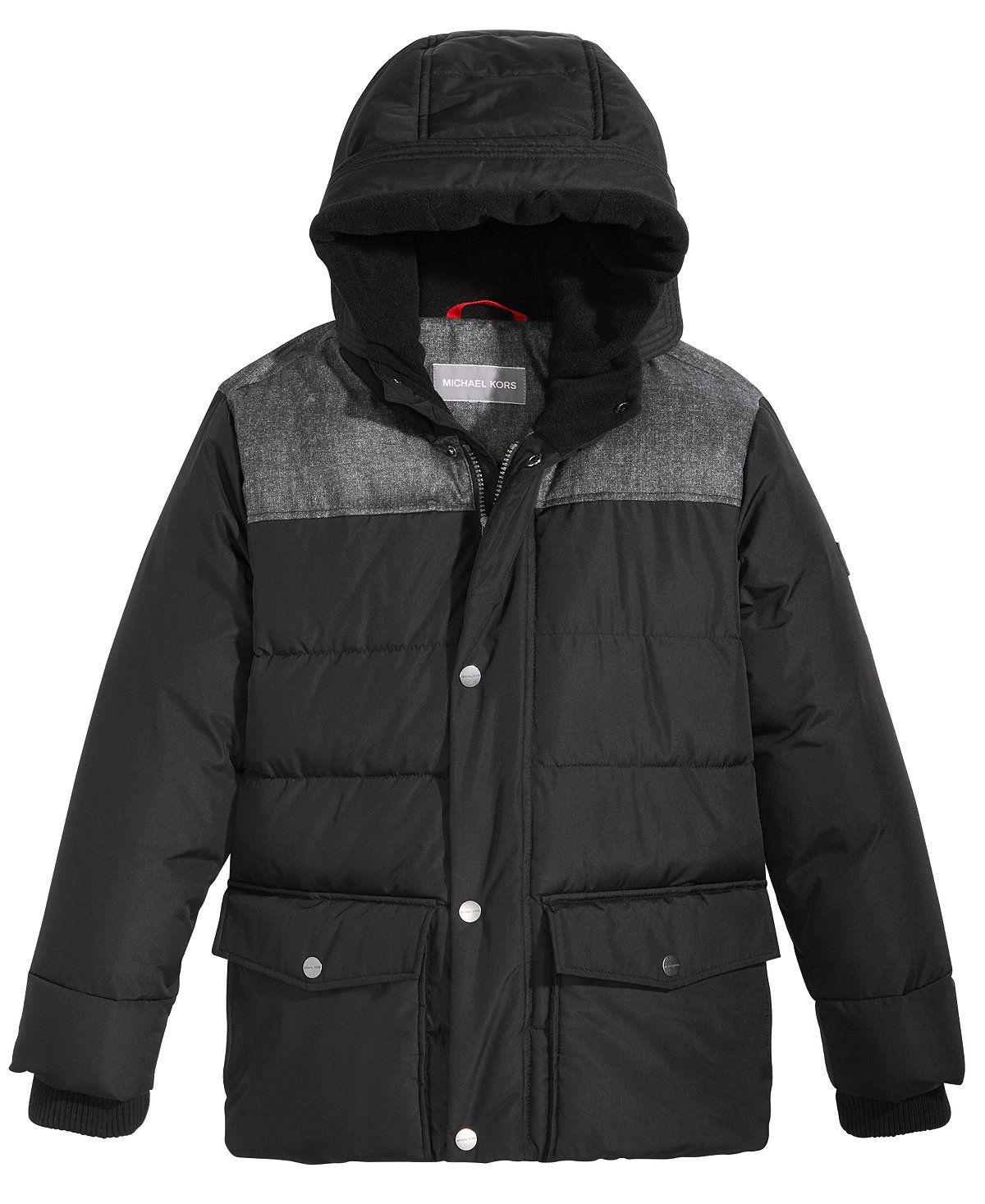213e5d695 Michael Kors Woolish Hooded Puffer Jacket