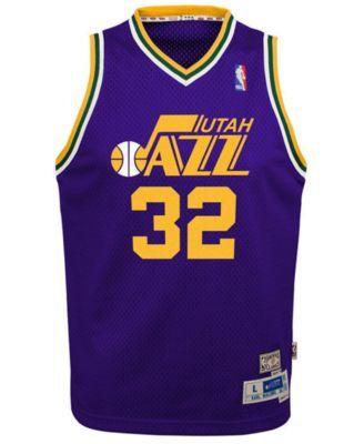 pretty nice dba67 0ed63 adidas Big Boys Karl Malone Utah Jazz Retired Player ...