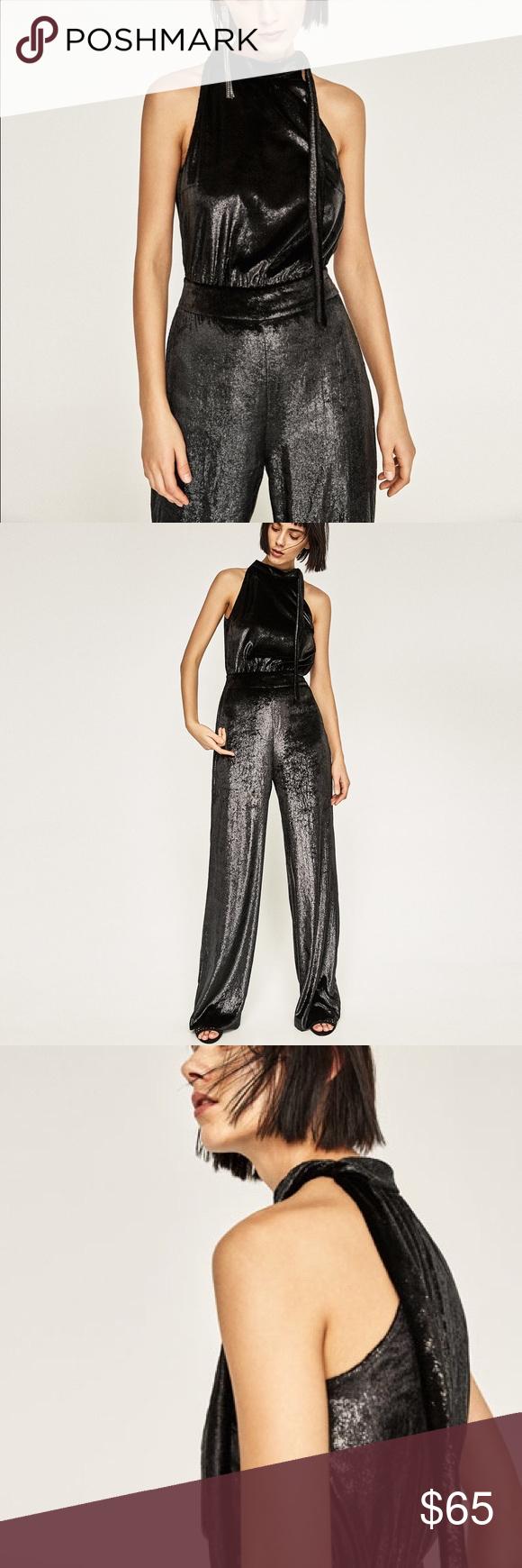 1204b20ebf Zara Velvet Shiny Jumpsuit Beautiful