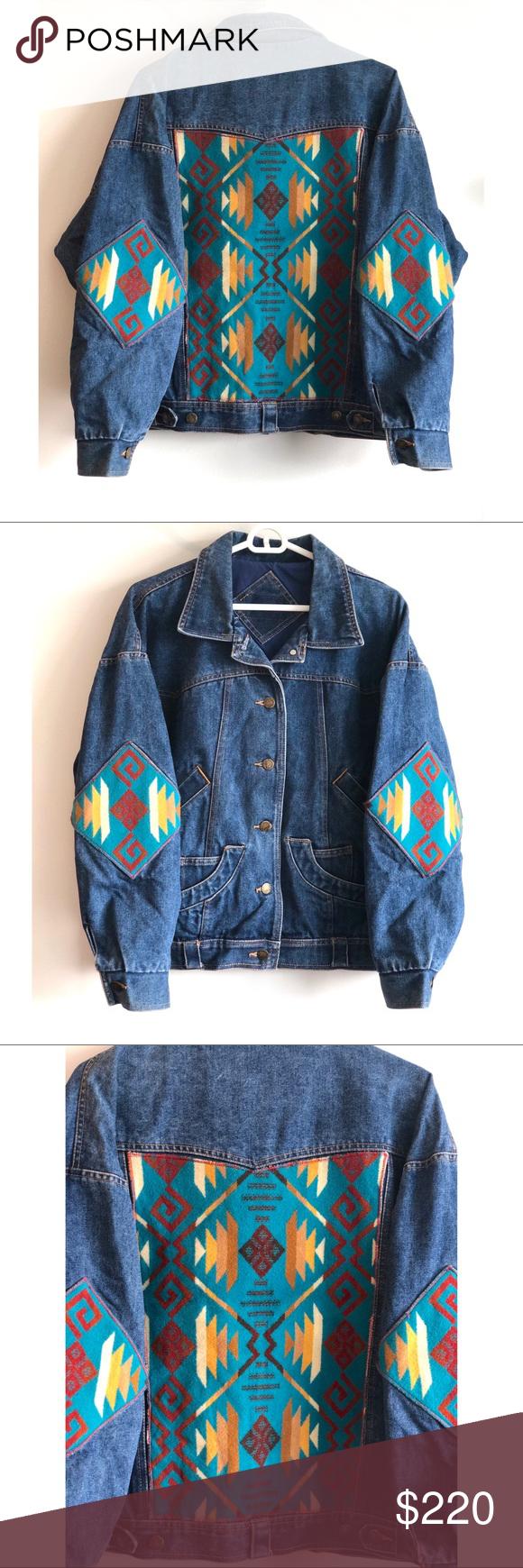 Pendleton Wool Vintage Denim Jean Jacket Size M Vintage Denim Vintage Denim Jeans Jean Jacket [ 1740 x 580 Pixel ]