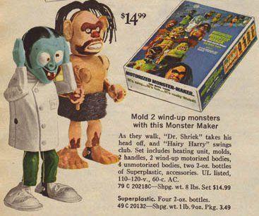 vintage mold Wind-up toy maker monster