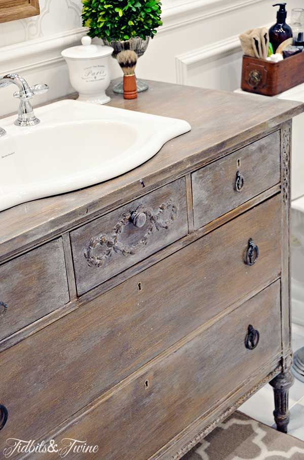 Guest Bathroom Makeover Reveal Dresser Vanity Home