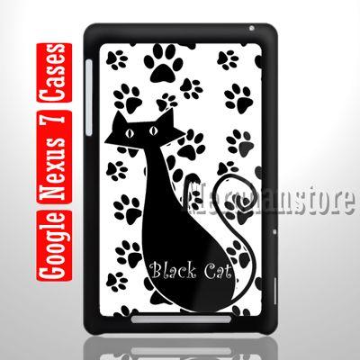 New Black Cat Custom Case for Google Nexus 7