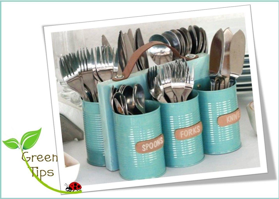 Reutiliza tus latas y decora tu hogar. Green Tips