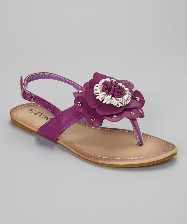 3c97a99484d2 Loving this Evacol Purple Studded Flower Sandal on  zulily!  zulilyfinds
