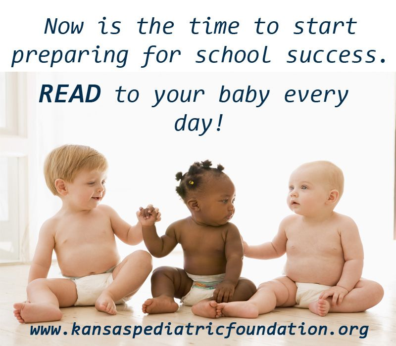 Read with your baby every day! www