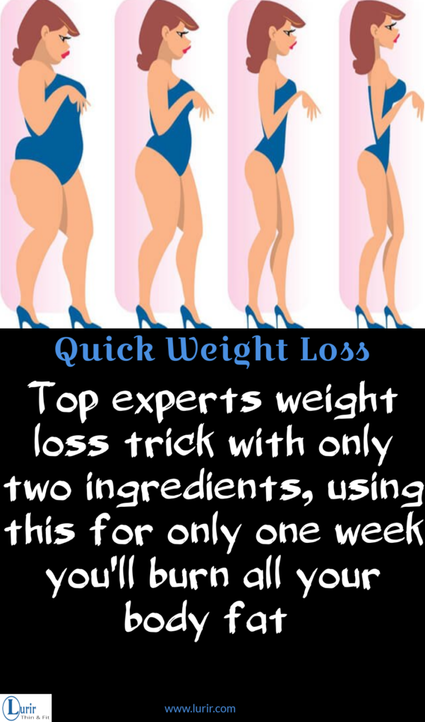 Top Experts Weight Loss Trick With Only Two Ingredients Using This