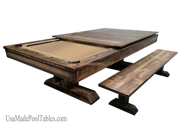 Rustic Pool Table Pool Table Dining Table Pool Table Pool