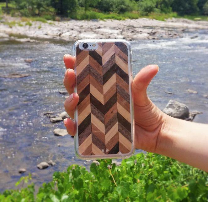 DIY Chevron Stripe Cell Phone Case
