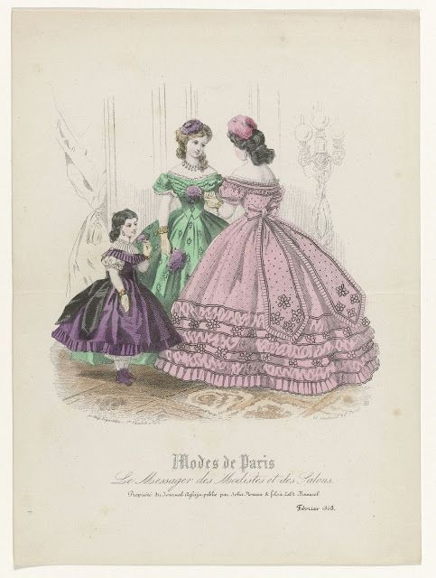 Le Messager des Modistes et des Salons, Modes de Paris, Journal Aglaja, February 1863 | In the Swan's Shadow