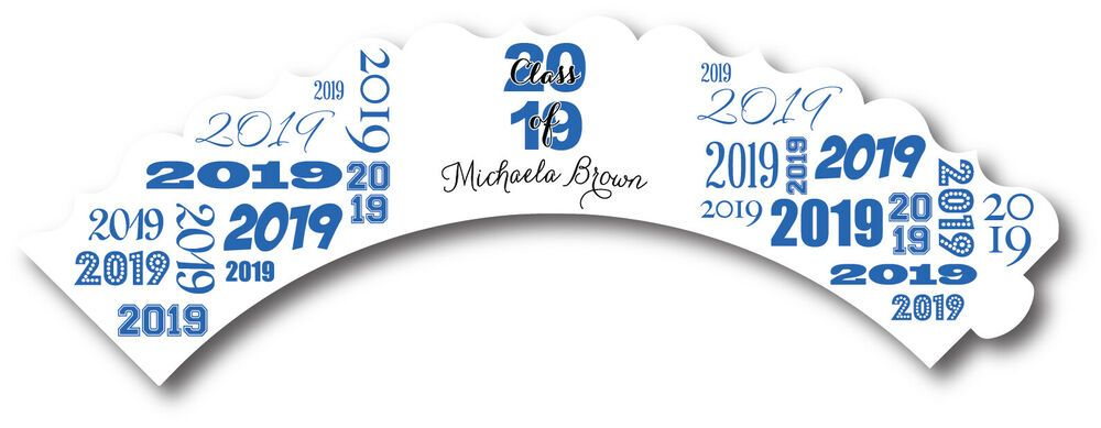 2019 Graduation Personalized Party Cupcake Wrappers Set of 12