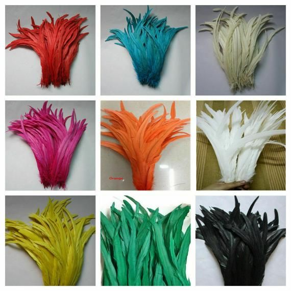 """25 TURKEY QUILLS 10-12/"""" Dyed Craft Feathers MANY COLORS; Halloween//Mardi Gras"""