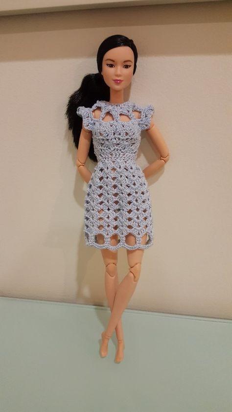 Barbie Cut Out Shell Stitch Dress | Barbie - Kleidung | Pinterest ...