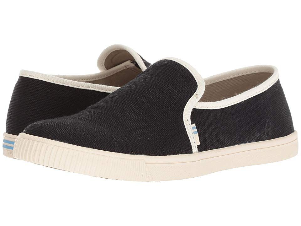 18c7d826a6e TOMS Clemente (Black Heritage Canvas) Women s Slip on Shoes. With every  pair of