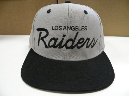 0d1e9a270a2 NFL LA Raiders Gray 2 Tone Snapback Cap Old School Retro by Reebok.  8.99.