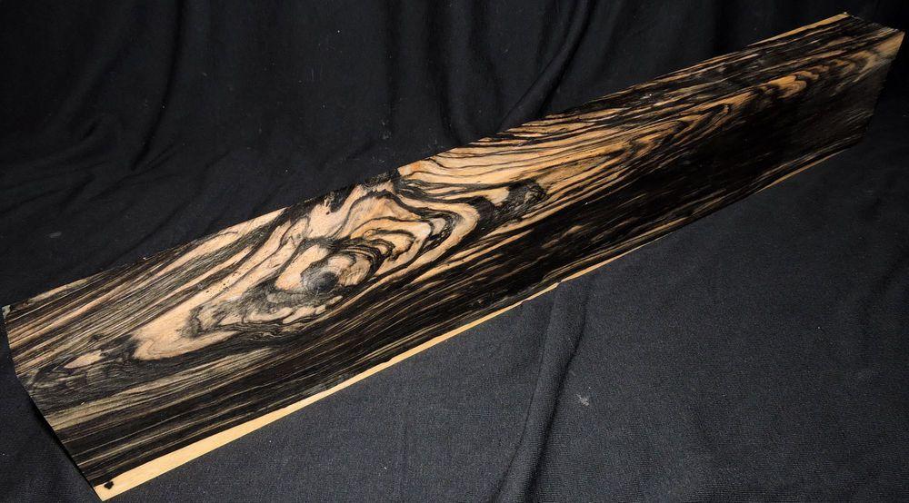 Black and white ebony lumber