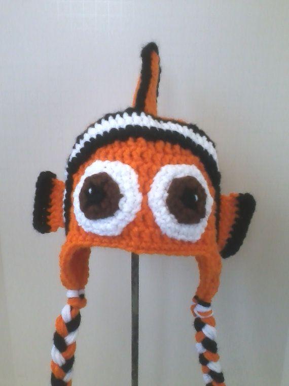 c3191302214bd Children s Finding Nemo Inspired Clown Fish Hat by yankeerose