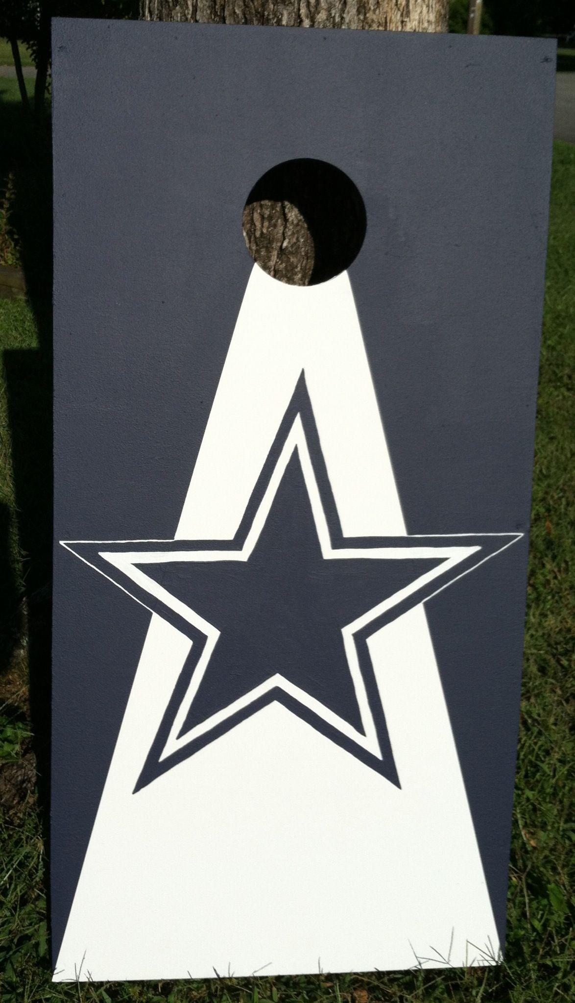 dallas cowboys hand painted cornhole board bags boards dallas cowboys hand painted cornhole board