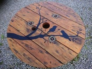 Cable Reel/Drum Table With Custom Design #cablespooltables
