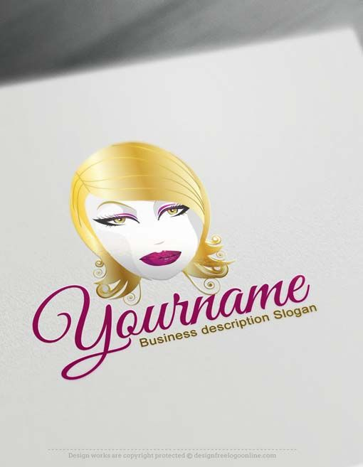 Free Beauty Nails Logo Maker Woman Face Makeup Logo Design Makeup Artist Logo Design Makeup Logo Design Makeup Logo