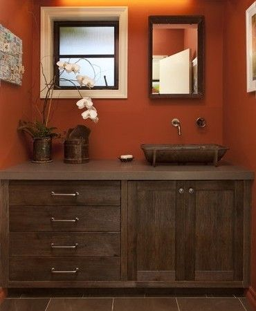 brown bathroom color ideas. Color Schemes  Brown Dark Orange White In The Bathroom Ben S