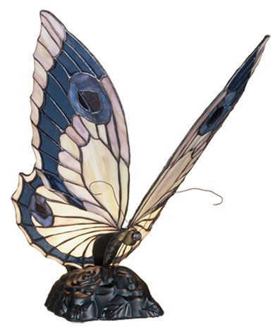 """Butterfly Tiffany 15"""" H Table Lamp"""