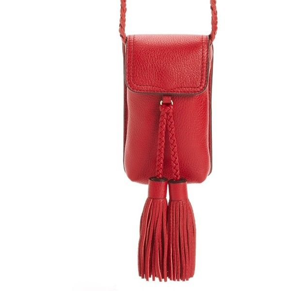 Women's Rebecca Minkoff Isobel Phone 6/6S Crossbody Bag (8.845 RUB) ❤ liked on Polyvore featuring bags, handbags, shoulder bags, crossbody purses, crossbody shoulder bags, leather crossbody handbags, rebecca minkoff crossbody and red leather handbags