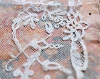 Exquisite Antique 1840's Brussels Lace Wedding Shawl /   Etsy