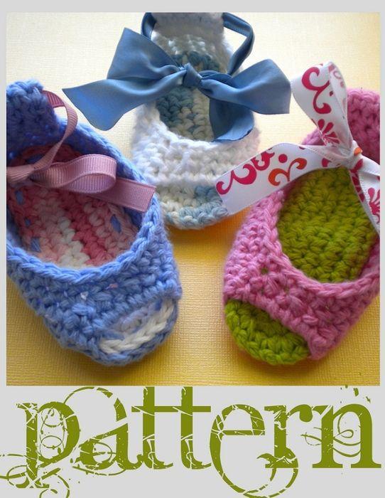 Patrones para Crochet: Sandalias Infantiles de Crochet   Crochet ...