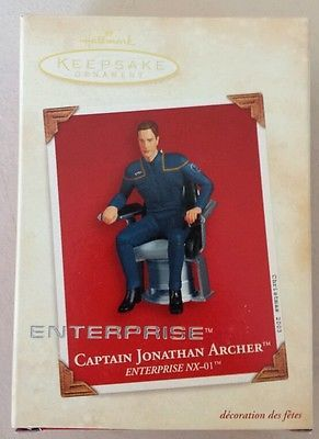 Hallmark Christmas ornament Star Trek Enterprise Captain Jonathan Archer