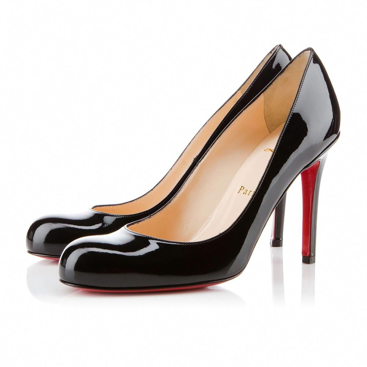 76a211fe8504  675 Simple Pump 100mm Black Patent Leather  ChristianLouboutin ...