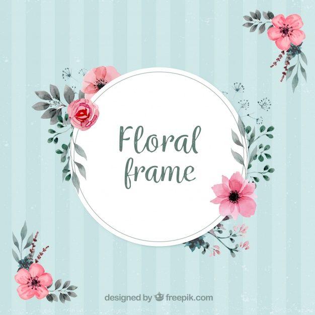 Marco vintage con decoración floral Vector Gratis paper cut