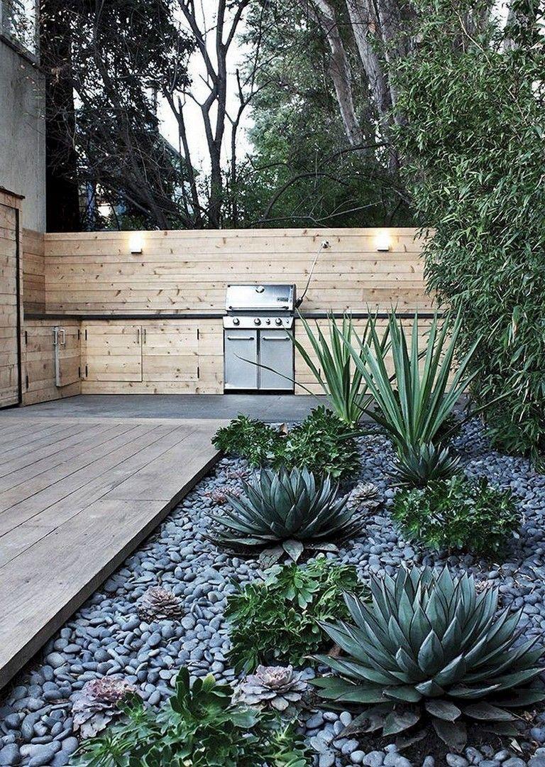 65+ Wonderful Front Yard Rock Garden Landscaping Ideas #modernfrontyard