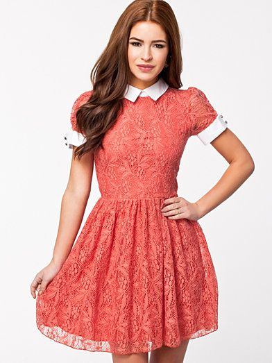 Collar detail dress nelly pictures
